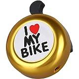 Campanello per manubrio bicicletta, in alluminio (lingua inglese)