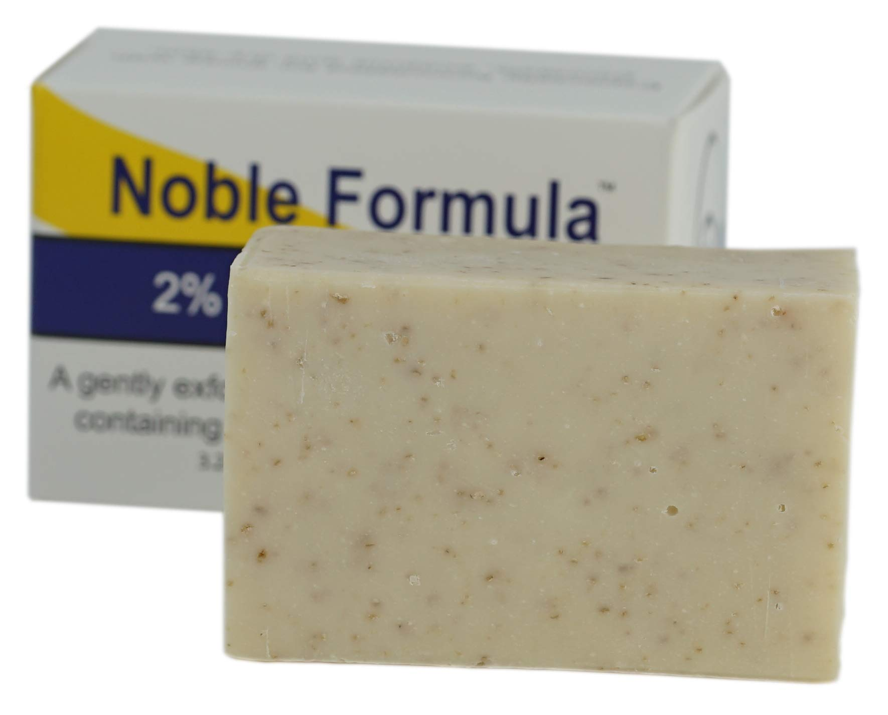 Noble Formula 2% Pyrithione Zinc (ZnP) Vegan Mango, Cocoa Butter, Olive Oil Bar Soap, (3 Bars in 1 Box), Total 9 oz