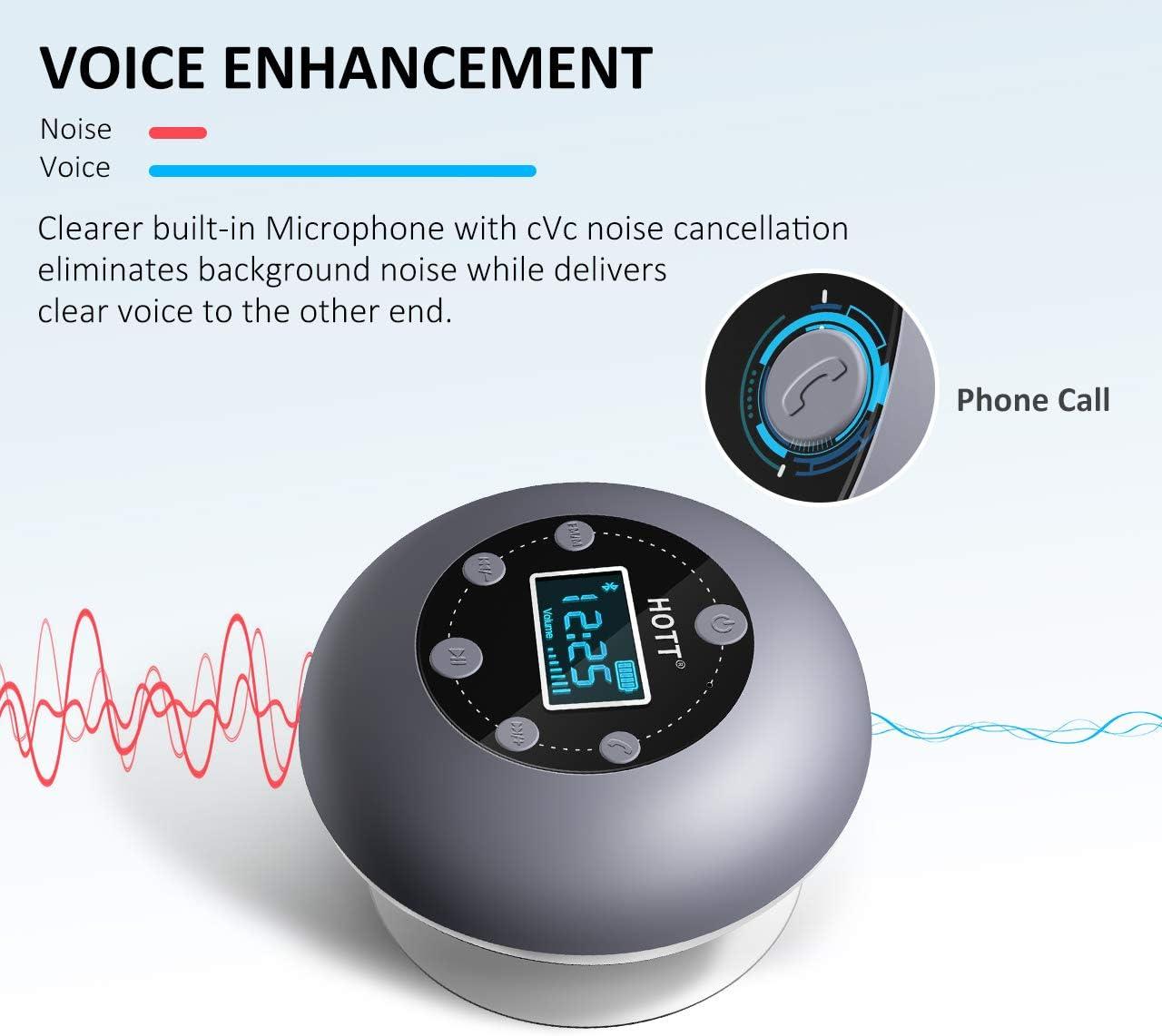 Shower Speaker Micro SD Card Slot,10 Hours Playtime for Bathroom ...