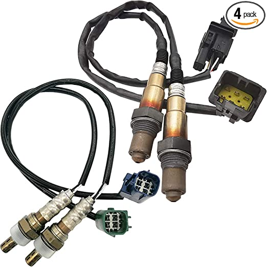 4 Pcs O2 Oxygen Sensor 2 Upstream /& 2 Downstream for Nissan Quest 3.5L 2004-2006