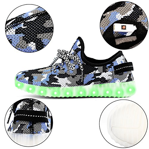 Stadium In Lights And Flashes: Green Hope-Rise Field LED Flashing Sneakers Light Up Sport