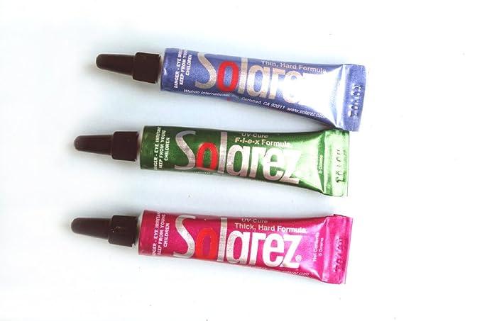 3x5g SOLAREZ UV-Harz f/ür die Fliege UV resin for fly tying hard, fine et flex