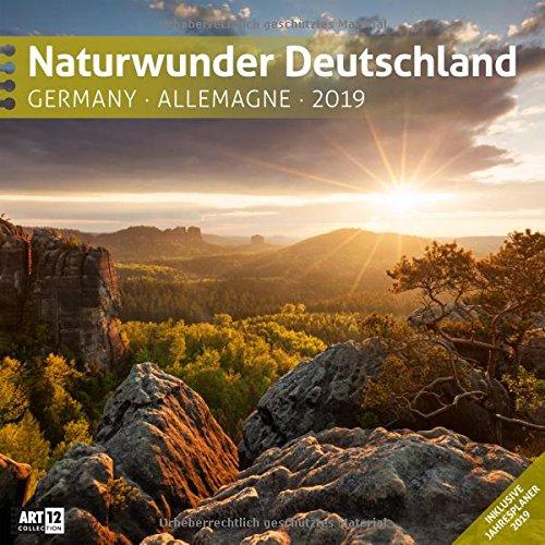 Naturwunder Deutschland 2019, Wandkalender / Broschürenkalender im Hochformat (aufgeklappt 30x60 cm) - Kalender mit Monatskalendarium zum Eintragen