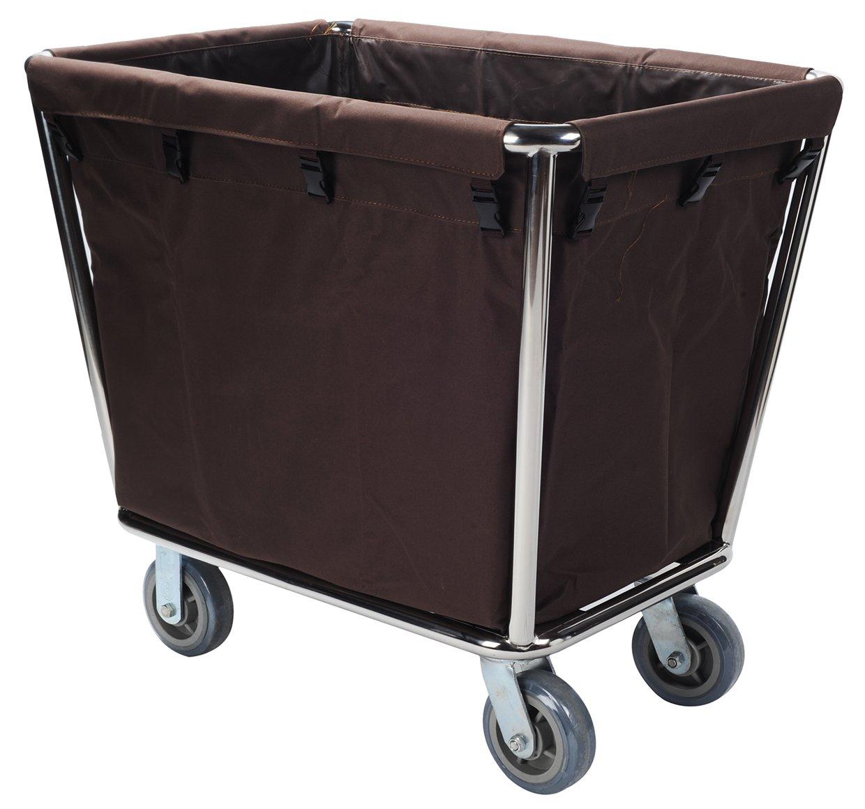 AMENITIES DEPOT Fiberglass Rolling Laundry Cart Linen Utility Cart Laundry Sorter Cart(C-40)