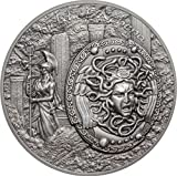 2018 2 Oz Silver $10 SHIELD OF ATHENA Aegis
