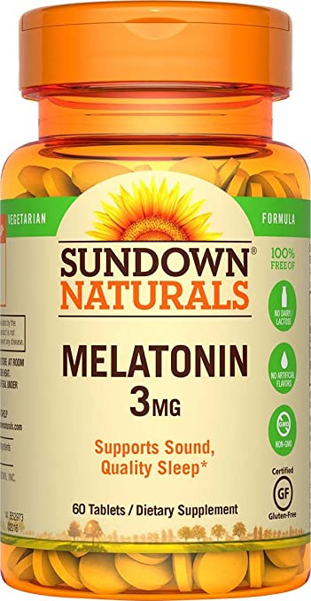 Amazon.com: Sundown Naturals Melatonin 3 mg, 120 Tablets (Pack of 3): Health & Personal Care