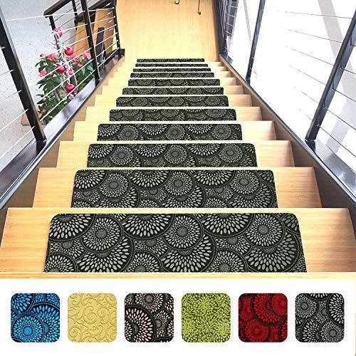 Indoor Stair Mats | Set of 14 | Titanium Gray 9
