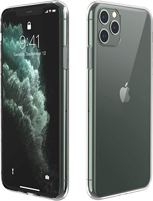 Temdan Designed for iPhone 11 Pro Max Case, HD Clear Ultra Soft Flexible  TPU Protective Case, Shock,Absorption Anti,Scratch Cover Case for iPhone 11