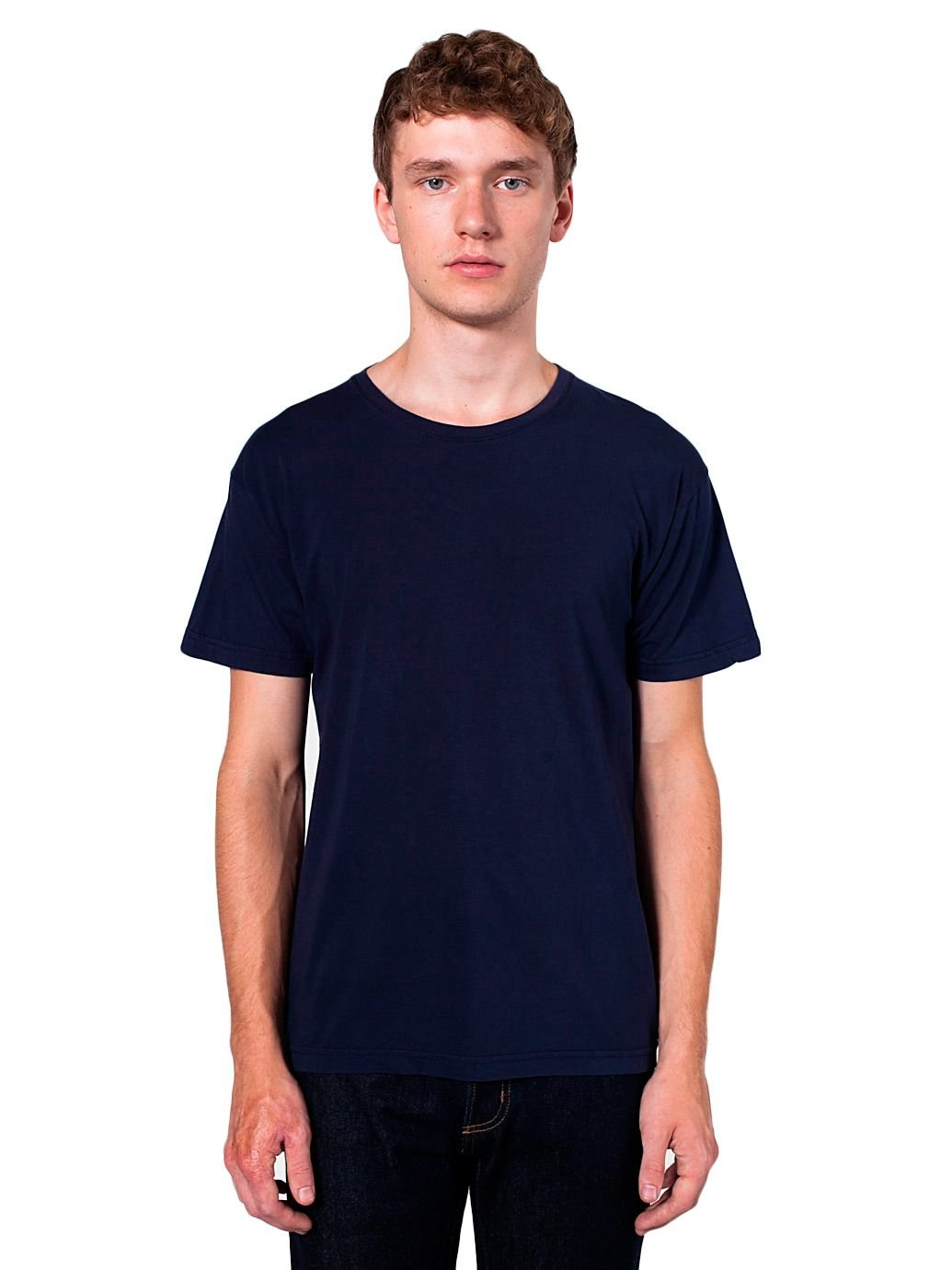 American Apparel Unisex Power Washed T-Shirt, Navy, X-Large
