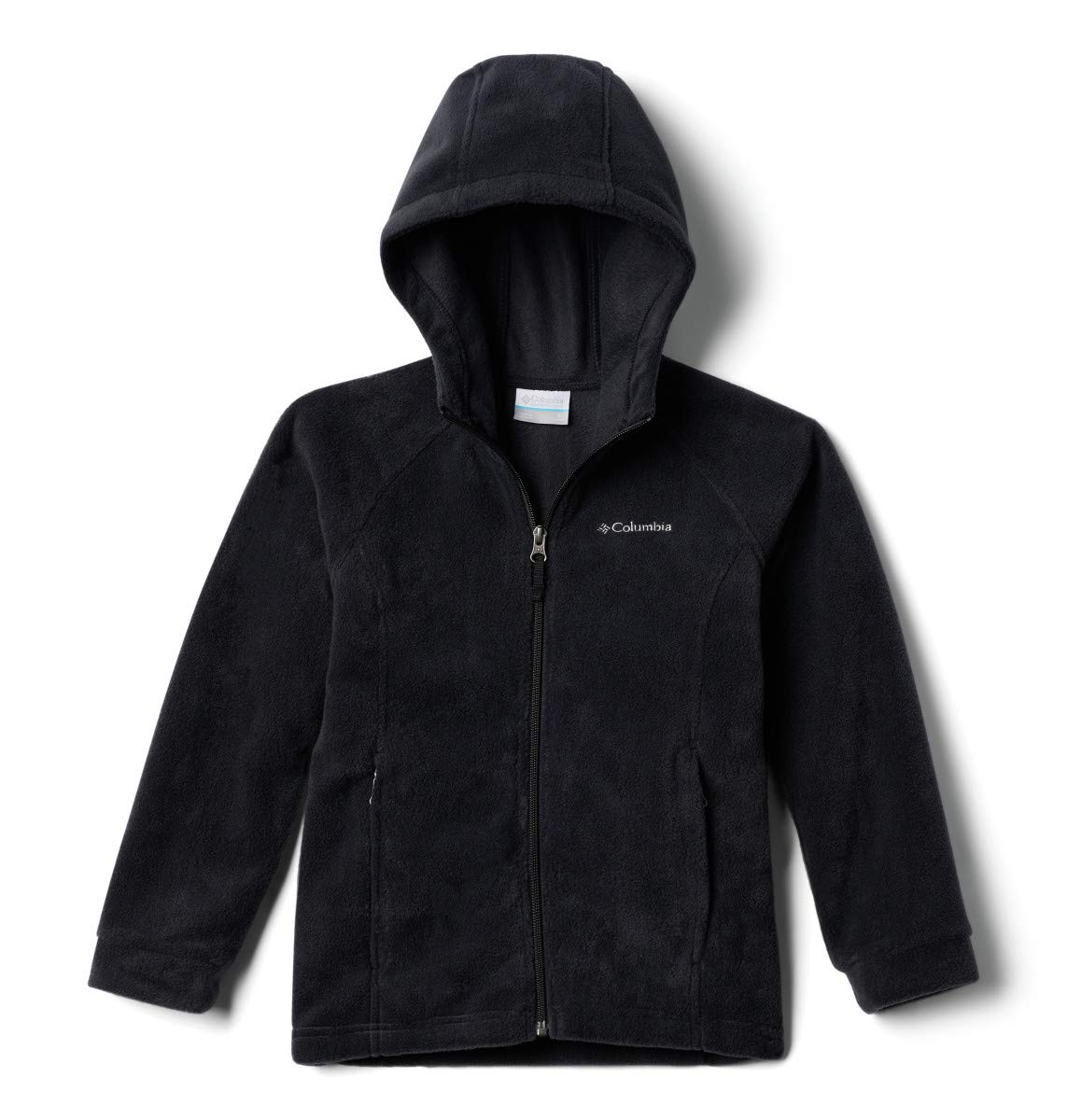 Columbia Big Girls' Benton II Hoodie Jacket, Black/Black, Medium (10/12)