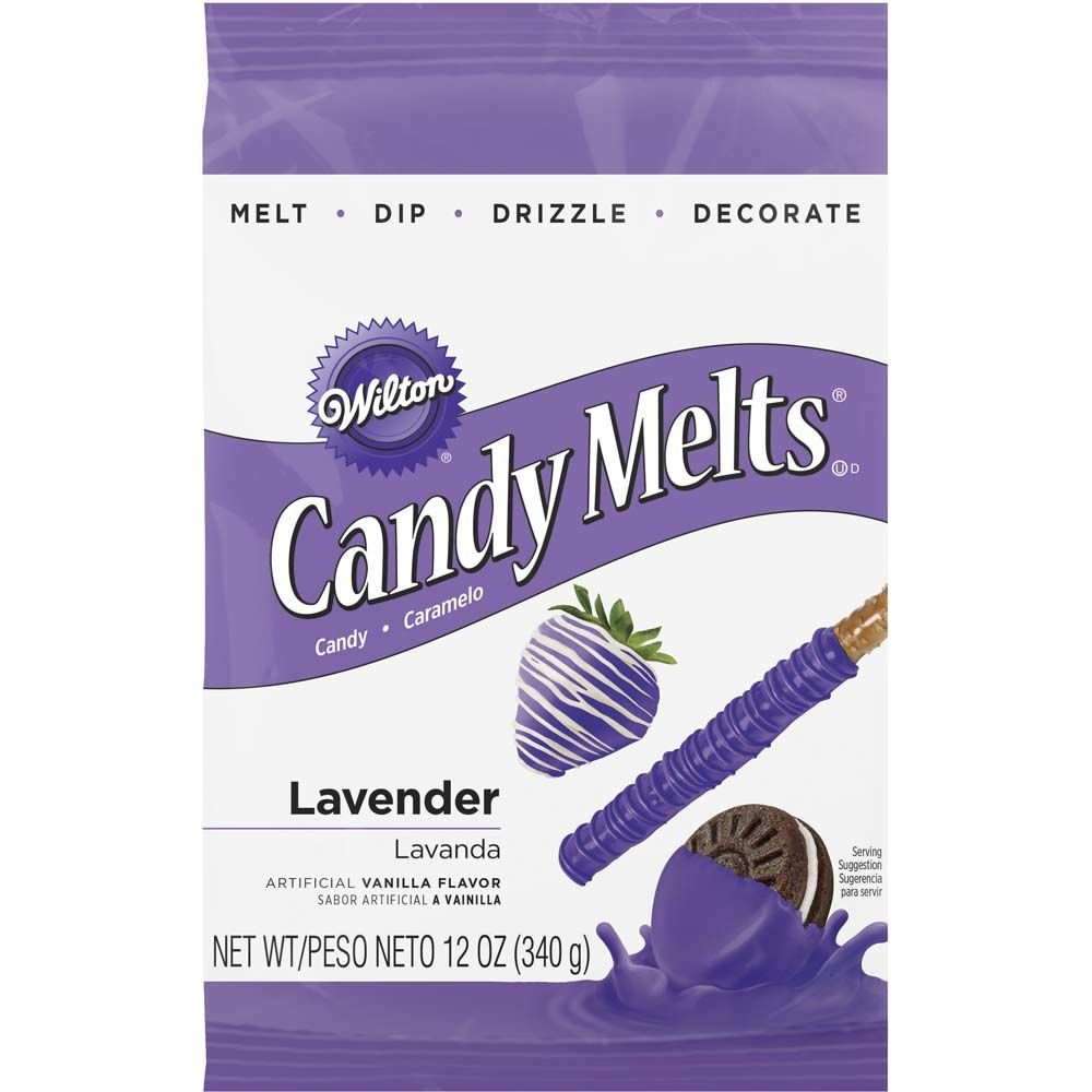 Wilton 1911-1358 Lavender Candy Melts, 12-Ounce