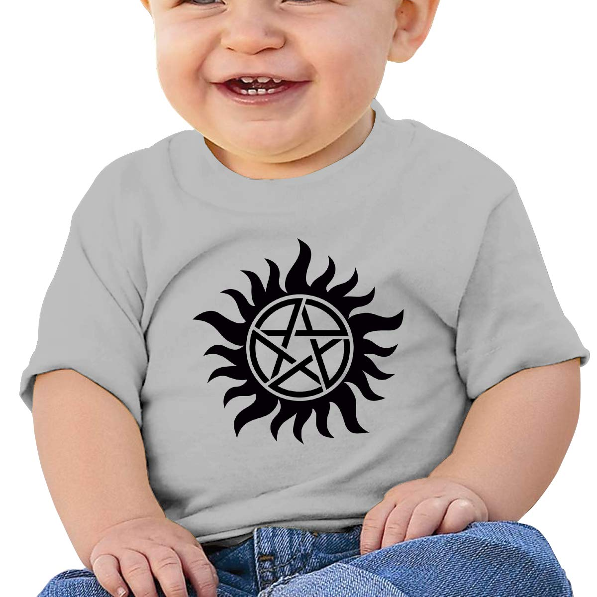 JVNSS Anti Possession Symbol Baby T-Shirt Baby Boy Girl Cotton T Shirts Crew Neck Graphic Tees for 6M-2T Baby