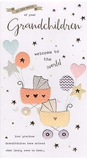 Girl Baby Birth Cards Congratulations It/'s Twins  Boy