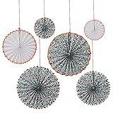 MERI MERI Liberty Betsy Floral Pattern Pinwheel Set (6 Pack)
