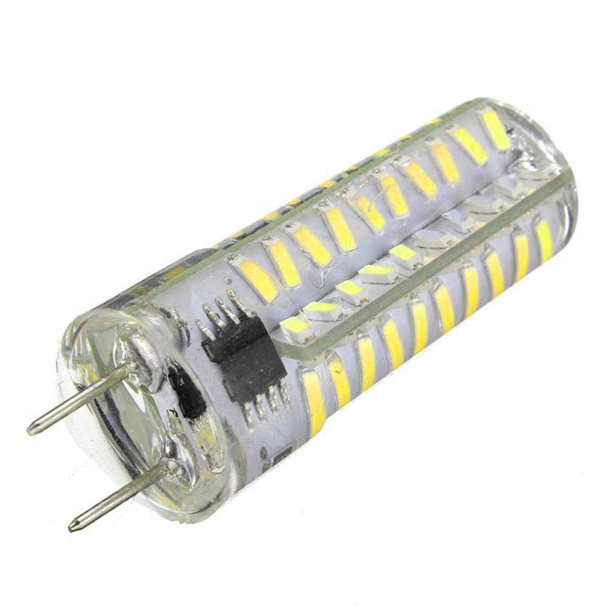 HENGMANHONG LED Silica Gel Lamp AC 110-130V Dimmable G8 5W 80 LED 4014 SMD 400-500 LM Warm White Cool White 1PC Size : Cold White