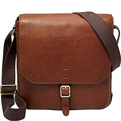 Fossil Men's Buckner Leather Trim City Bag
