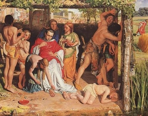 William Holman Hunt A Converted British Family Sheltering a Christian Mission... by 1st Art Gallery
