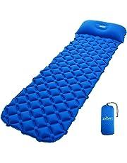 Acelane - Colchoneta Aislante Inflable Para Dormir de Acampada - Esterilla Colchón con Almohada Compacto Para