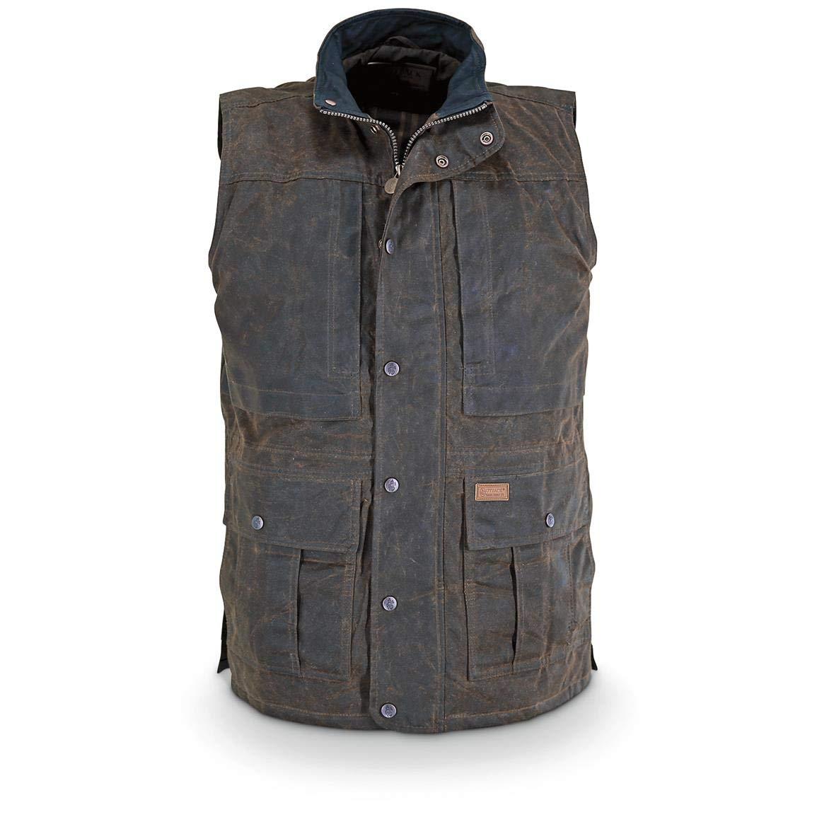 Outback Trading Men's Deer Hunter Vest - Bronze (MD) by Outback Trading