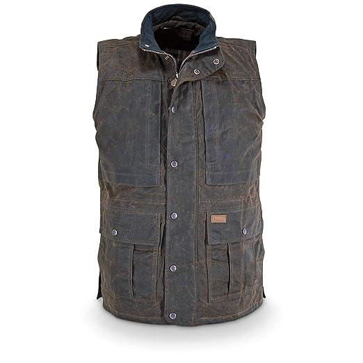 dc11e89772967 Amazon.com: Outback Trading Company Deer Hunter Oilskin Vest: Sweater  Vests: Sports & Outdoors