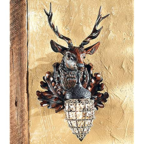 Left Facing Stag Wall Sconce