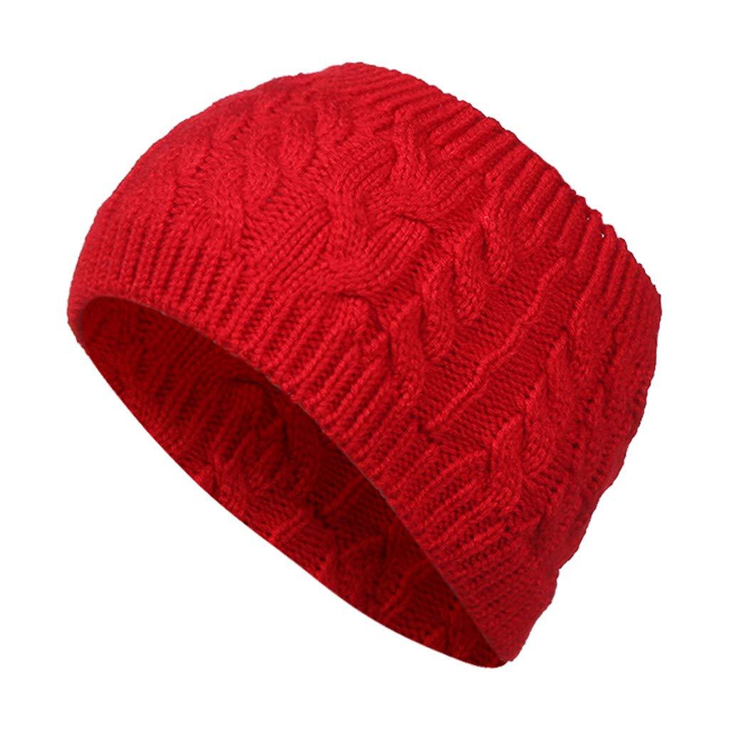 Men Women's Autumn Winter Hedging Cap Street Style Leisure Knit Empty Top Hat