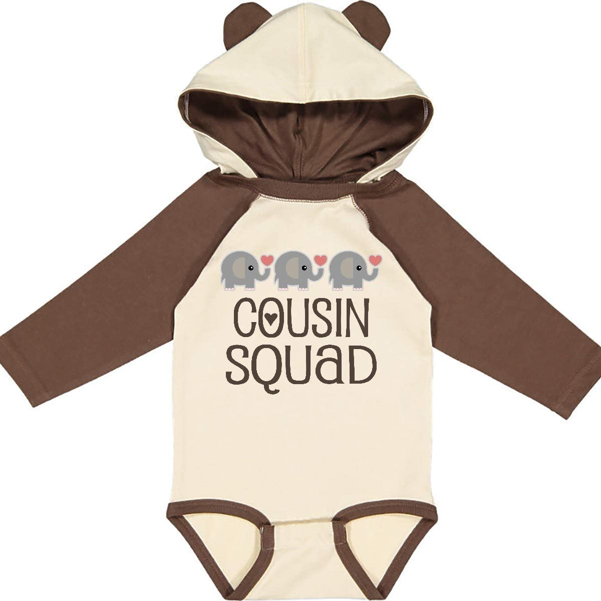 inktastic Cousin Squad Elephant Long Sleeve Creeper