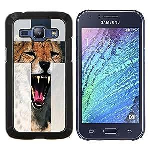 Dragon Case - FOR Samsung Galaxy J1 J100 J100H - Lovely the tiger - Caja protectora de pl??stico duro de la cubierta Dise?¡Ào Slim Fit
