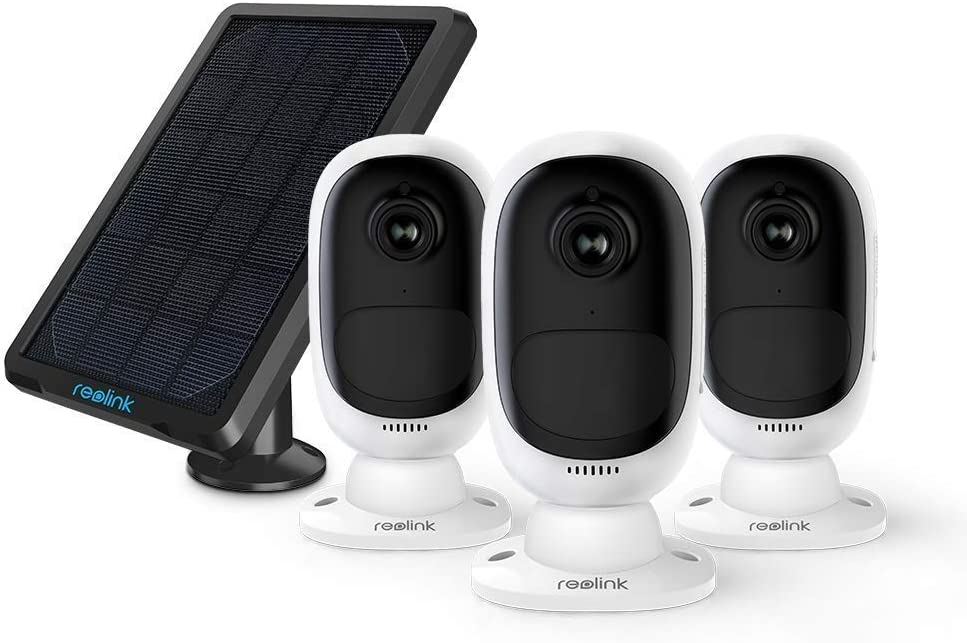 REOLINK Battery Powered Security Camera System Bundle, Wireless Solar Rechargeable 1080p HD WiFi Home Surveillance Outdoor 2-Way Talk, Color Night Vision, Motion Alerts
