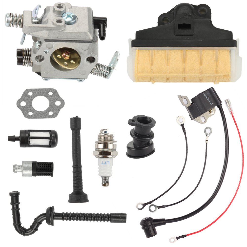 Butom Carburetor with Air Filter Ignition Coil Fuel Oil Line for Stihl MS250 MS230 MS210 025 023 021 Chainsaw by Butom