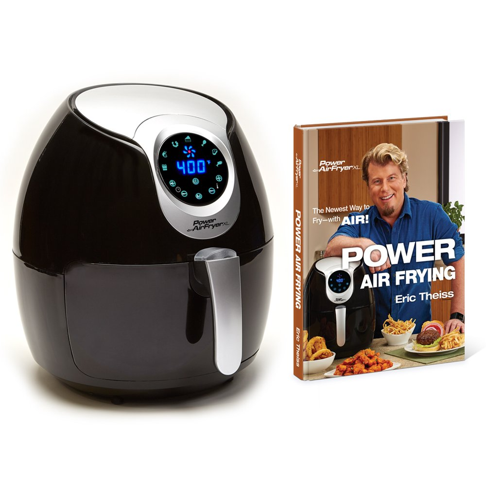 Air fryer XL 5.3 Deluxe with Cookbook Power AirFryer XL 5.3QT Black