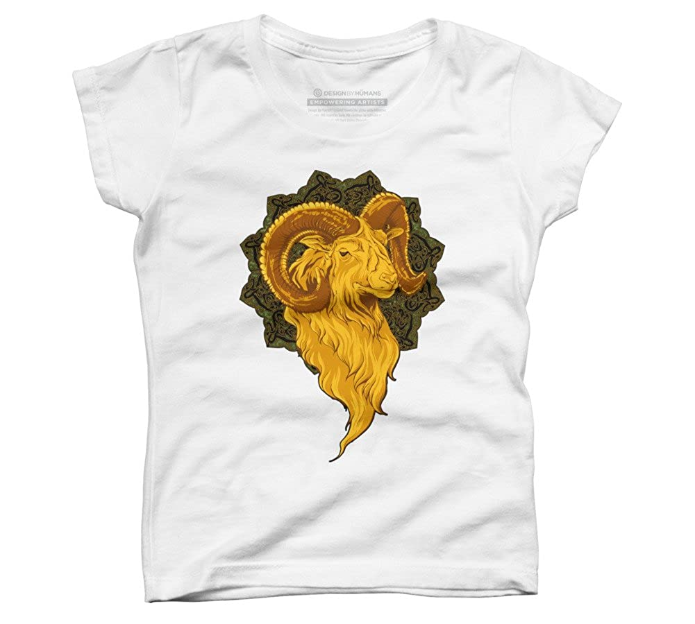Design By Humans aries Girls Youth Graphic T Shirt