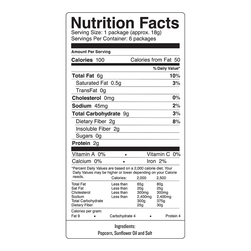 SKINNYPOP Original Popped Popcorn, Skinny Pack, Individual Bags, Gluten Free Popcorn, Non-GMO, No Artificial Ingredients, A Delicious Source of Fiber, 3.9 Ounce (Pack of 10) by SkinnyPop (Image #3)