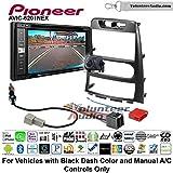 Pioneeer AVIC-6201NEX Double Din Radio Install Kit with GPS Navigation Apple CarPlay Android Auto Fits 2009-2012 Hyundai Genesis (Black) (Manual A/C controls)