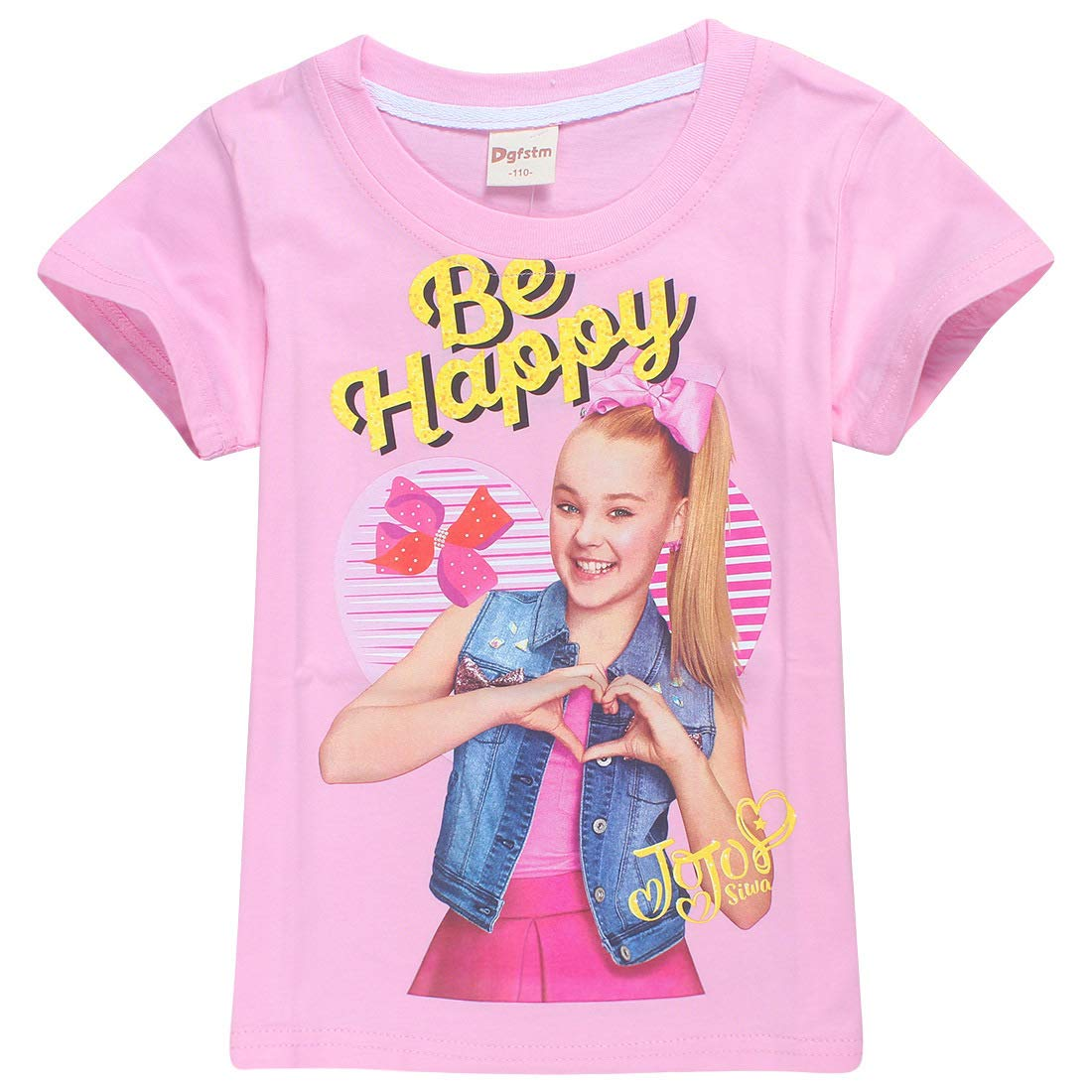 JoJo Siwa Short T-Shirt Girls Short Sleeve Tops Tees-Made in 100% Cotton