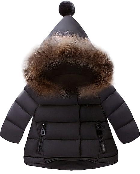 Amazon Jojobaby Baby Boys Girls Hooded Snowsuit Winter Warm Fur Collar Hooded Down Windproof Jacket Outerwear