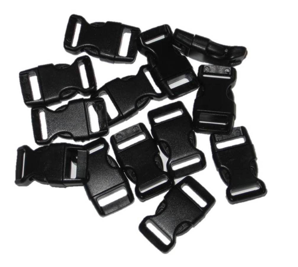Ships From USA 5-250 count Import 1//2 Curved Side Release Buckles for Paracord Bracelets