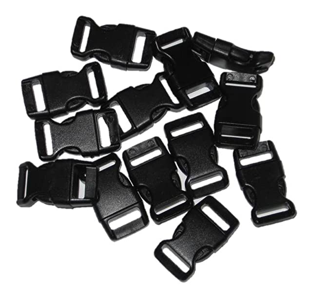Amazon Com 12 Curved Side Release Buckles For Paracord Bracelets