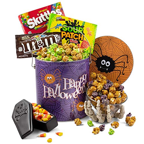 Spooky Halloween Snack Mix (Spooky Snack Tin of Halloween Candy and Halloween Popcorn - Halloween Gifts for Kids, Adults, Coworkers, Friends and)