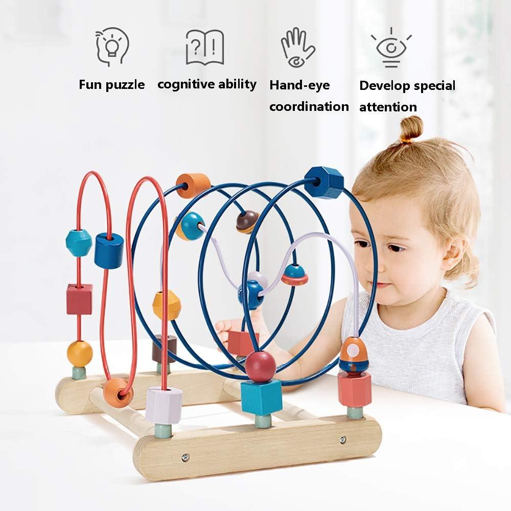 SSZZ Baby Around The Tallone Giocattolo Educazione Precoce Puzzle Blocchi di Movimento Movimento Tallone Formazione 0-1-2 Anni,Rosa Pink