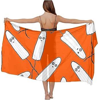 Women's Kawaii Tampons Orange Beach Bikini Cover-up at