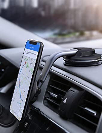 Magnetic Cell Phone Mount >> Aukey Car Phone Mount 360 Degree Rotation Dashboard Magnetic Cell Phone Holder For Car Compatible With Iphone 11 Pro Max 11 Xs Max Xs 8 7