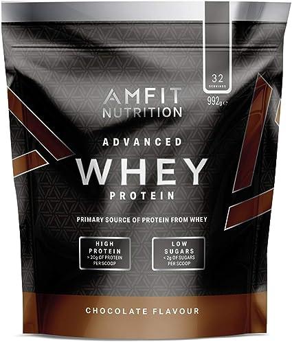 Marca Amazon - Amfit Nutrition Proteína Whey de suero de leche ...