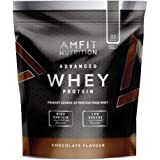 Amazon Brand- Amfit Nutrition - Advanced Whey Protein Powder Chocolate, 32 Servings, 992 g