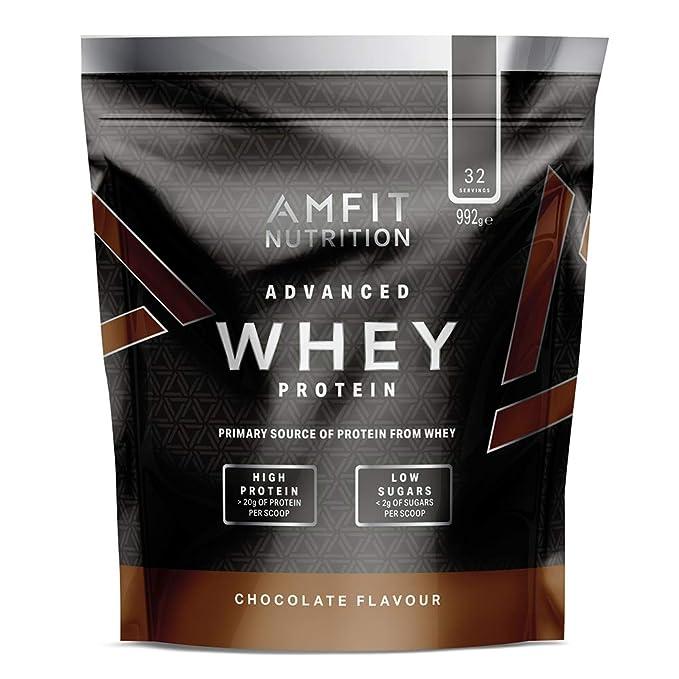 12 opinioni per Marchio Amazon- Amfit Nutrition Mix di proteine Whey del siero di latte gusto