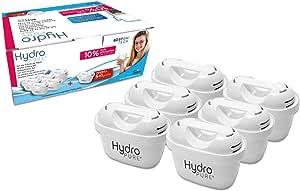 Boston Tech 6 Cartuchos Hydro Pure+, filtros de Agua compatibles con Brita Maxtra y Maxtra+, Efecto Prolongado (12 Meses, 6 x 60 días Cada Filtro) reducen la Cal y el Cloro