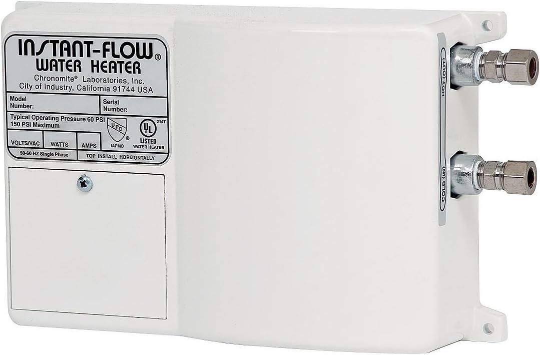 Chronomite SR-20L 208 HTR 208-Volt 20-Amp SR Series Instant-Flow Low Flow Tankless Water Heater by Chronomite