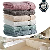 Wash Clothes for Face, Luxury 700GSM Washcloths Set, 13''x13'' Extra Thick, Soft Cotton Towels for Bathroom Spa Facial Kitchen Home, Hotel, Highly Absorbent (6 Color Set Bulk)