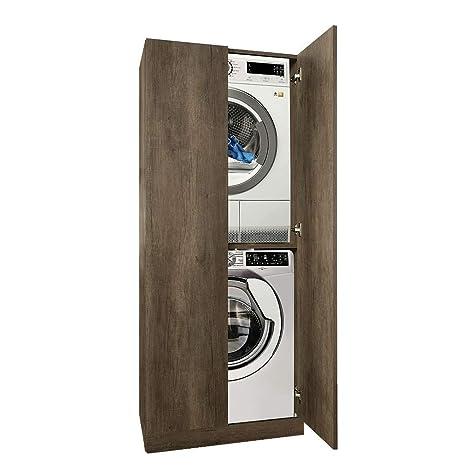 UNIKA - Colonna per inserimento lavatrice e asciugatrice con ante ...