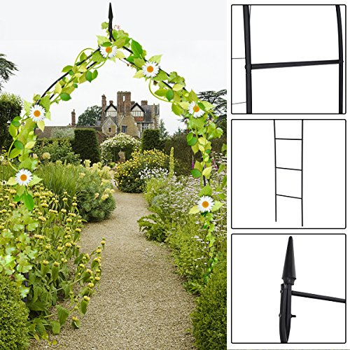 - Giantex Garden Arch Rose Arbor Metal for Climbing Plant Outdoor Garden Lawn, 8'4